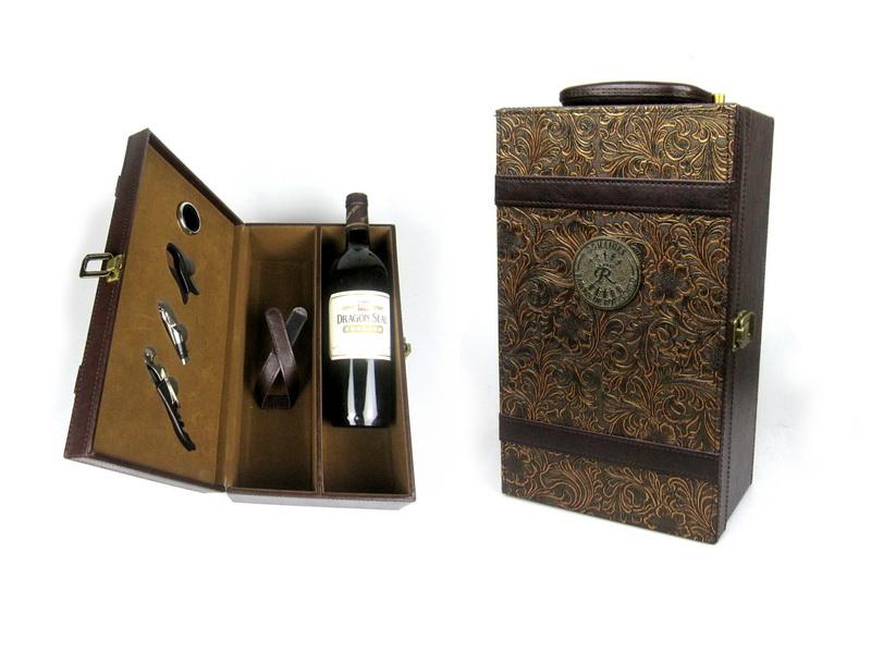 红酒皮盒现货7